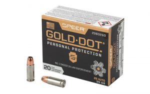 SPR GOLD DOT 25ACP 35GR HP 20/200