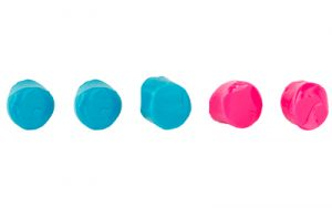 WALKER'S SILICON PLUGS PNK AND TEAL