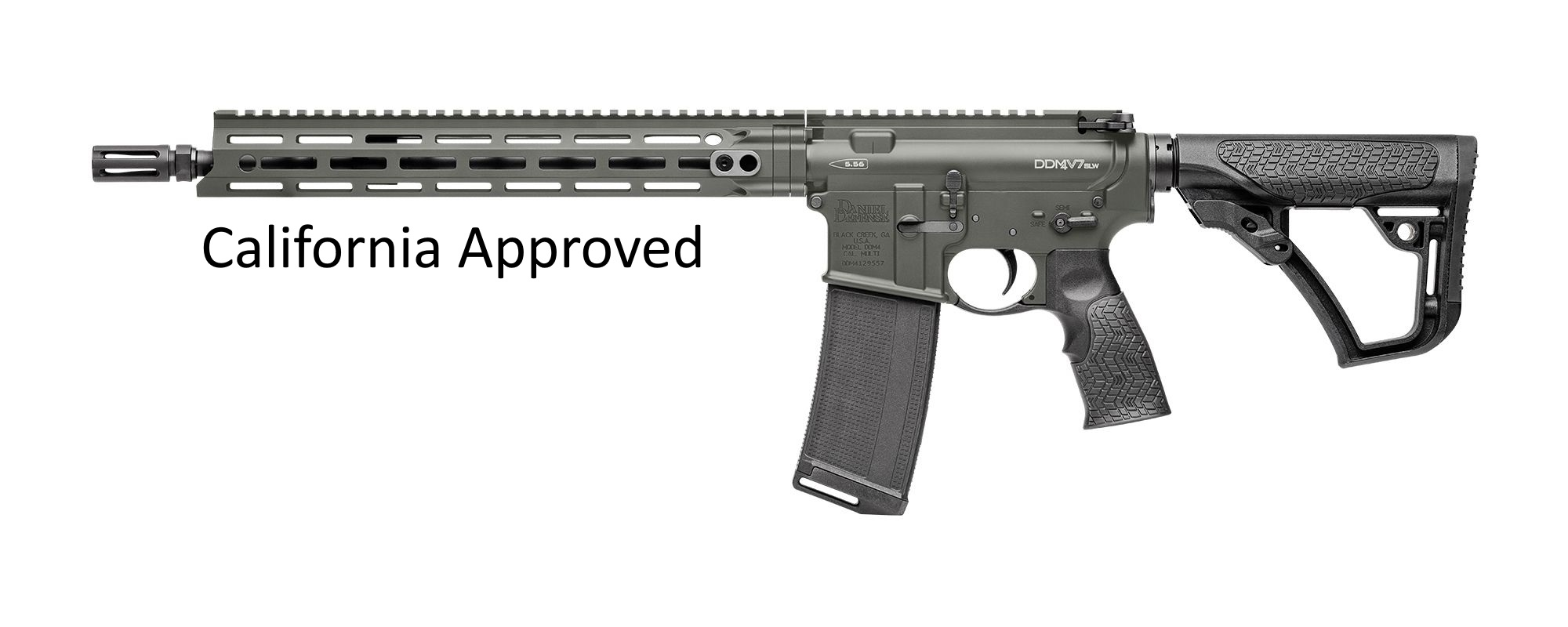 Daniel Defense DDM4 V7 SLW California Comply 223 Rem | 5.56 NATO