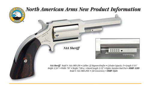 North American Arms Sheriff 22 LR | 22 Magnum