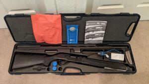"Beretta 3901 Citizen Semi Automatic Shotgun 12 Gauge 28"" Barrel 5 Rounds 3"" Chamber Black Synthetic Stock Blue Finish"